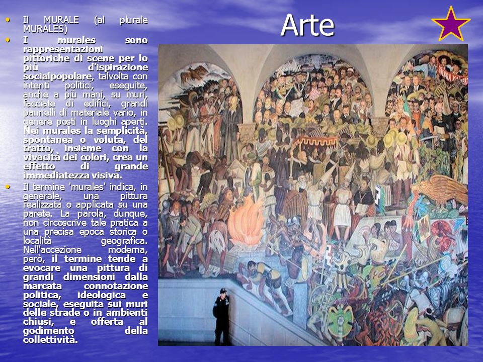 Arte Il MURALE (al plurale MURALES)