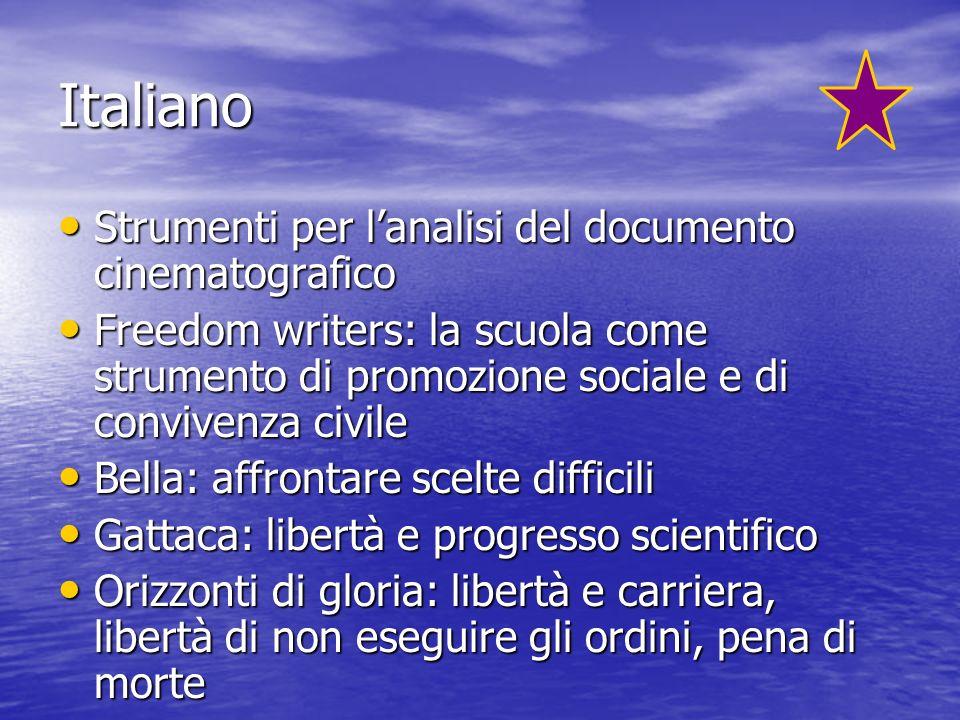 Italiano Strumenti per l'analisi del documento cinematografico