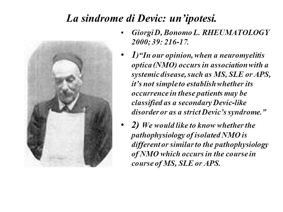 La sindrome di Devic: un'ipotesi.