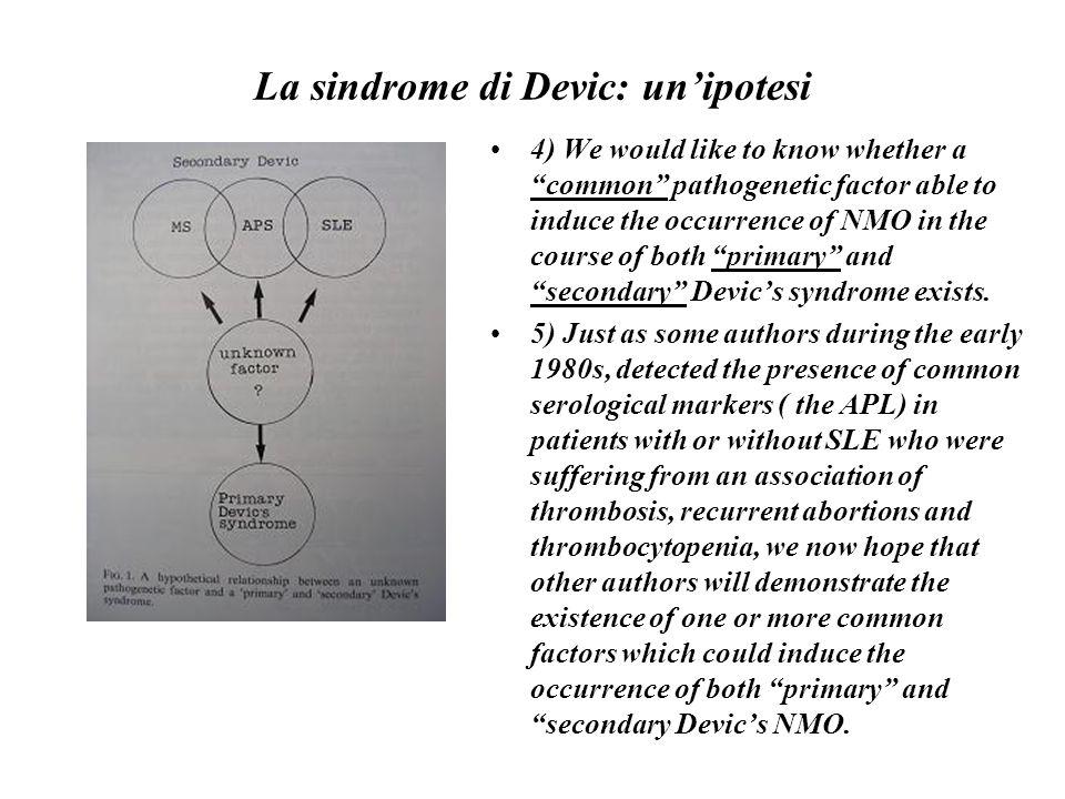 La sindrome di Devic: un'ipotesi
