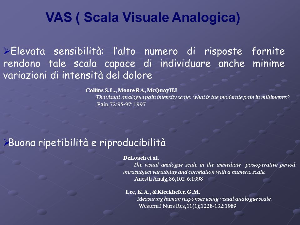 VAS ( Scala Visuale Analogica)