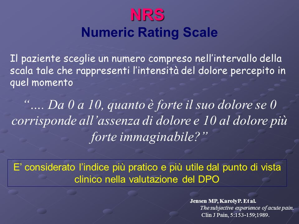 NRS Numeric Rating Scale