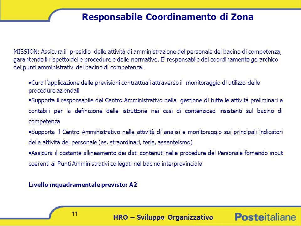 Responsabile Coordinamento di Zona
