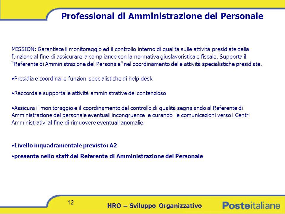 Professional di Amministrazione del Personale