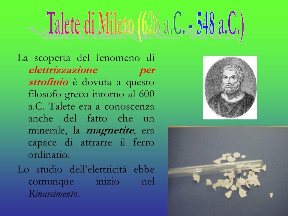 Talete di Mileto (626 a.C. - 548 a.C.)