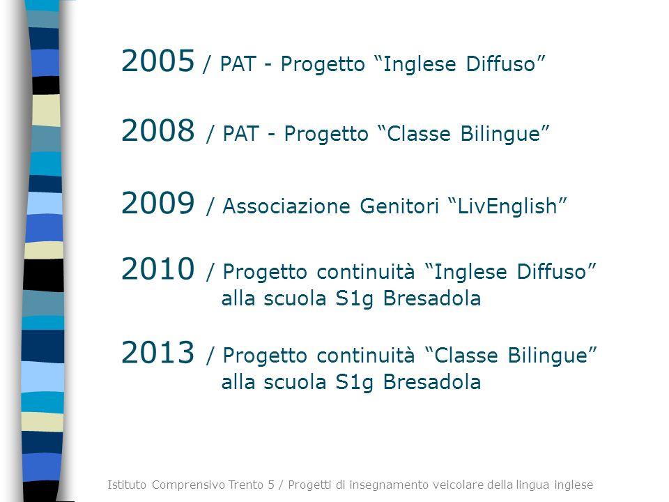 2005 / PAT - Progetto Inglese Diffuso