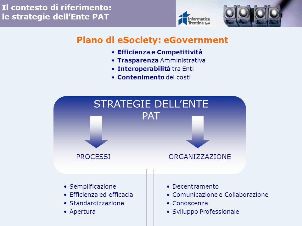 Il contesto di riferimento: le strategie dell'Ente PAT