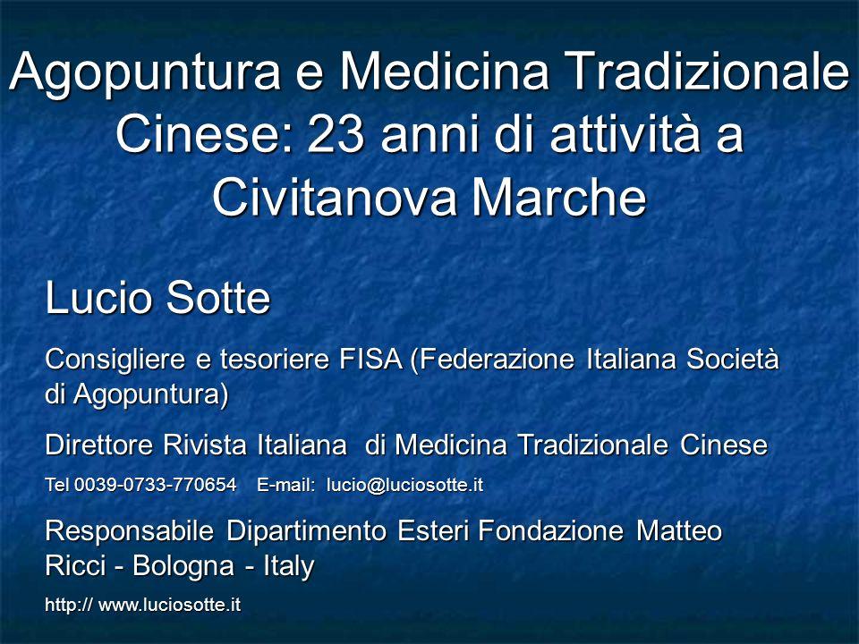 Agopuntura e Medicina Tradizionale Cinese: 23 anni di attività a Civitanova Marche