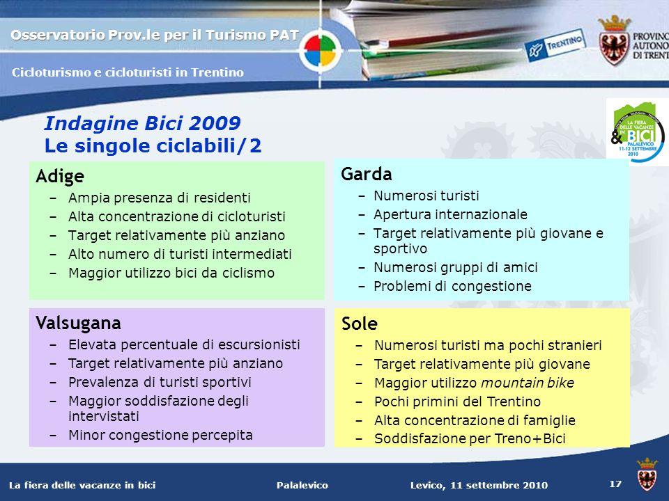 Indagine Bici 2009 Le singole ciclabili/2