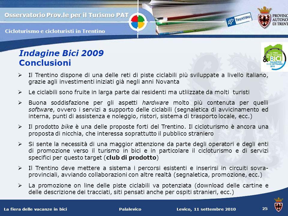 Indagine Bici 2009 Conclusioni