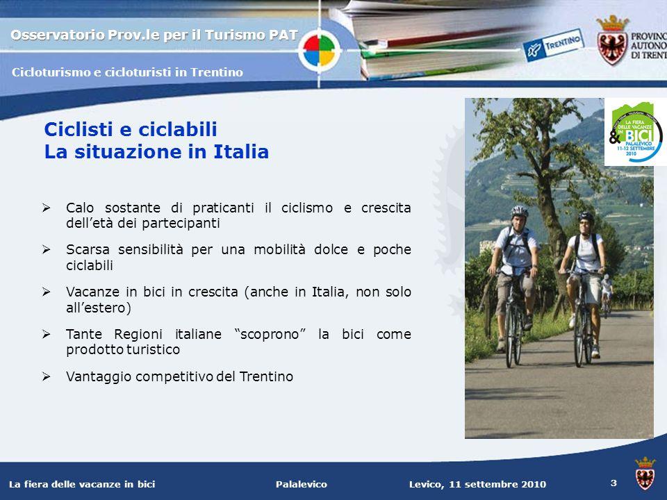 Ciclisti e ciclabili La situazione in Italia