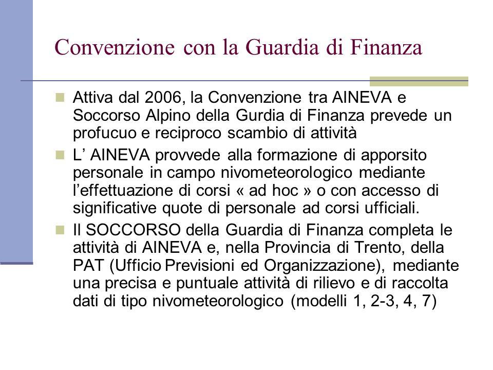 Convenzione con la Guardia di Finanza