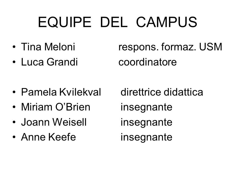 EQUIPE DEL CAMPUS Tina Meloni respons. formaz. USM