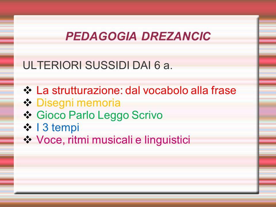 PEDAGOGIA DREZANCIC ULTERIORI SUSSIDI DAI 6 a.