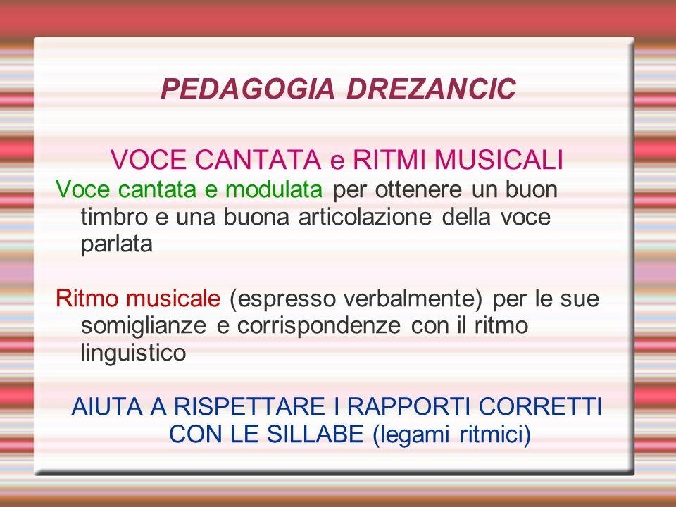 PEDAGOGIA DREZANCIC VOCE CANTATA e RITMI MUSICALI