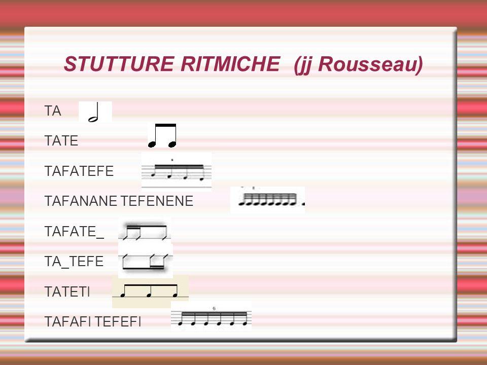 STUTTURE RITMICHE (jj Rousseau)