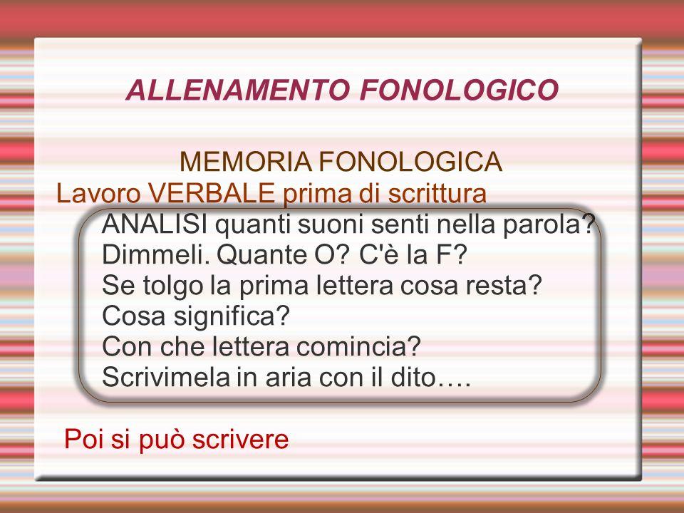 ALLENAMENTO FONOLOGICO