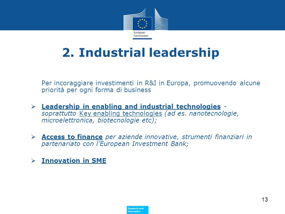 2. Industrial leadership