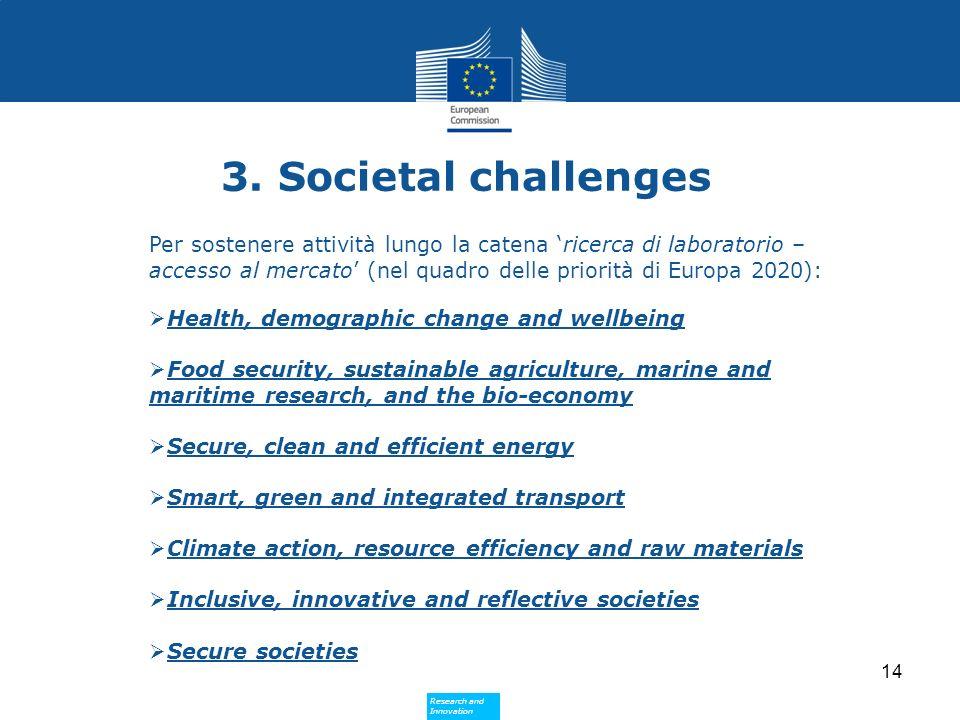 3. Societal challenges
