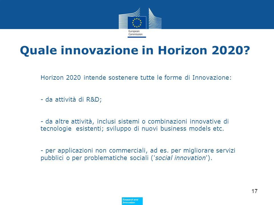 Quale innovazione in Horizon 2020