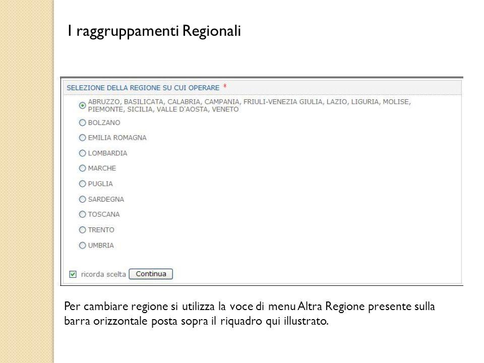 I raggruppamenti Regionali
