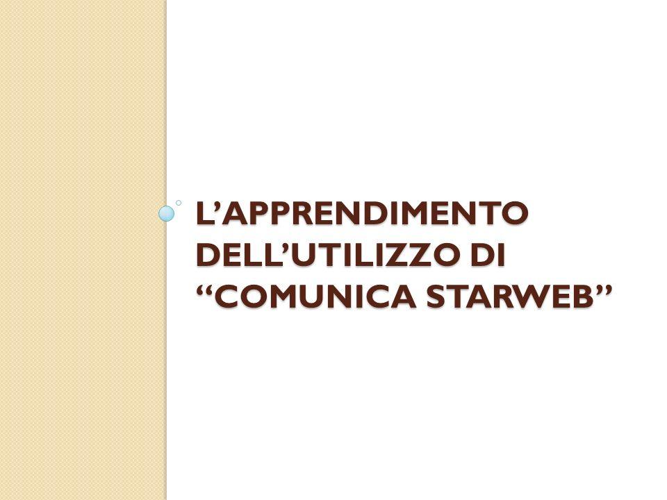 L'apprendimento dell'utilizzo di ComUnica Starweb
