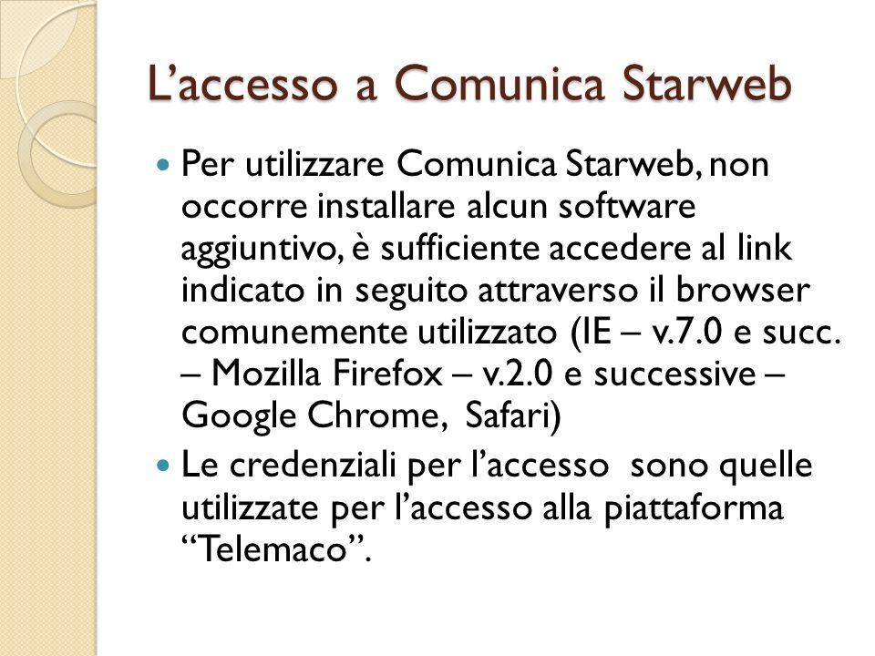 L'accesso a Comunica Starweb