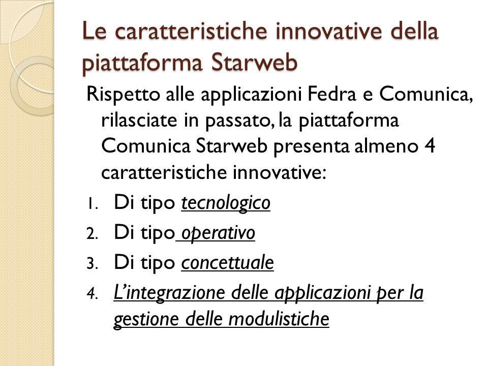 Le caratteristiche innovative della piattaforma Starweb