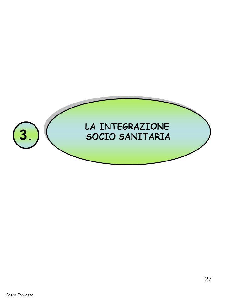 LA INTEGRAZIONE SOCIO SANITARIA 3. Fosco Foglietta