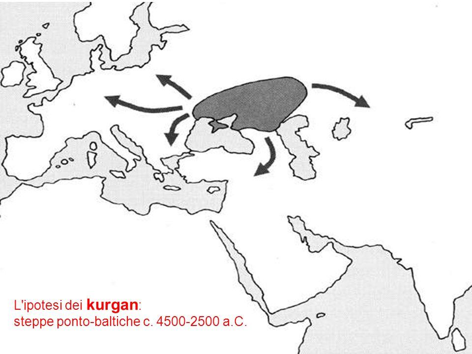 L ipotesi dei kurgan: steppe ponto-baltiche c. 4500-2500 a.C.