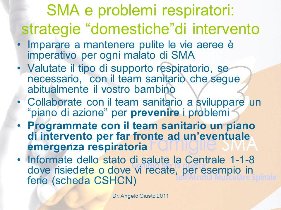 SMA e problemi respiratori: strategie domestiche di intervento