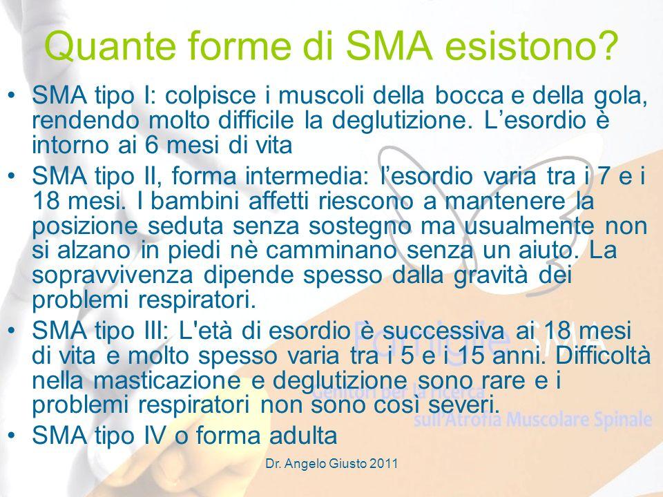 Quante forme di SMA esistono