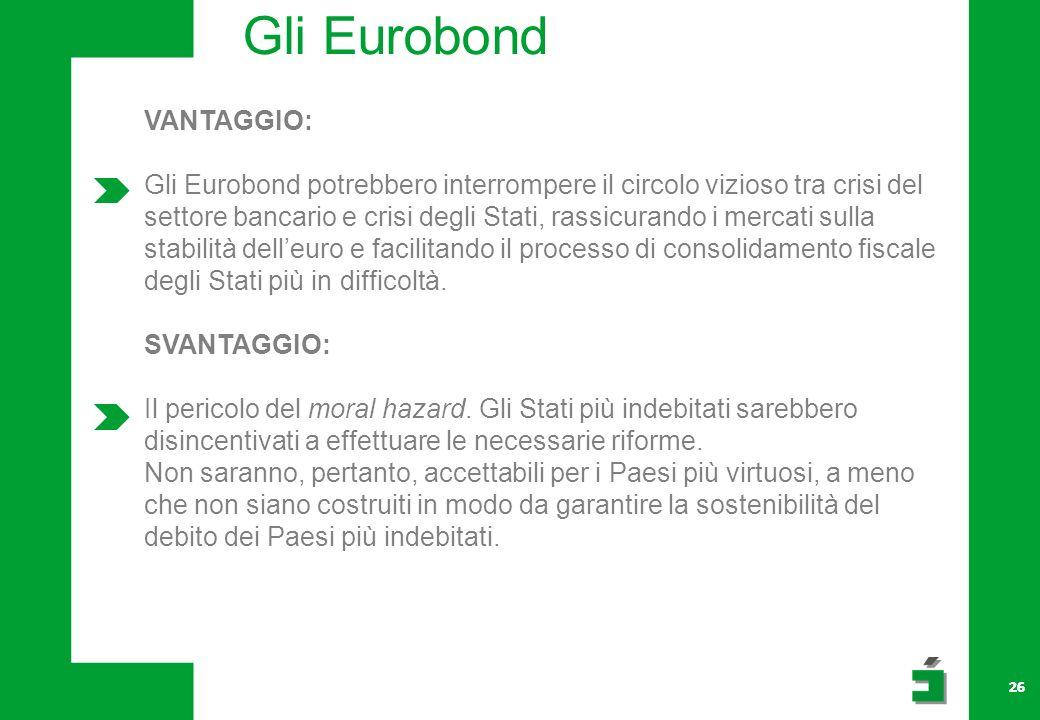 Gli Eurobond VANTAGGIO: