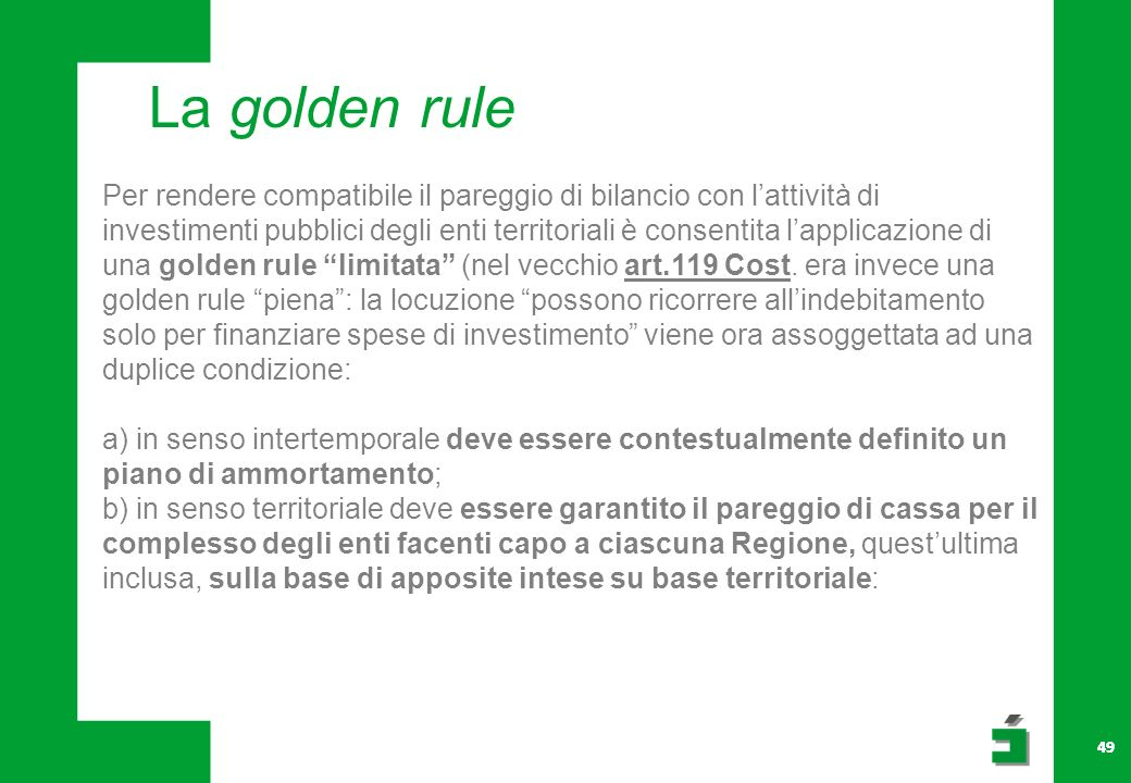 La golden rule