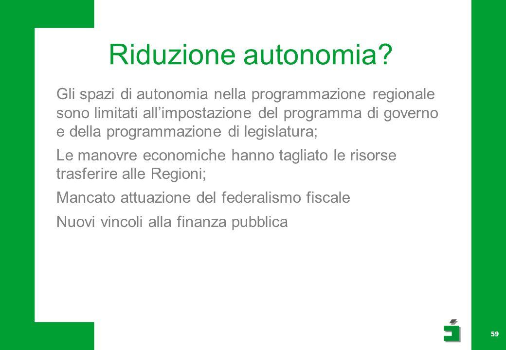 Riduzione autonomia