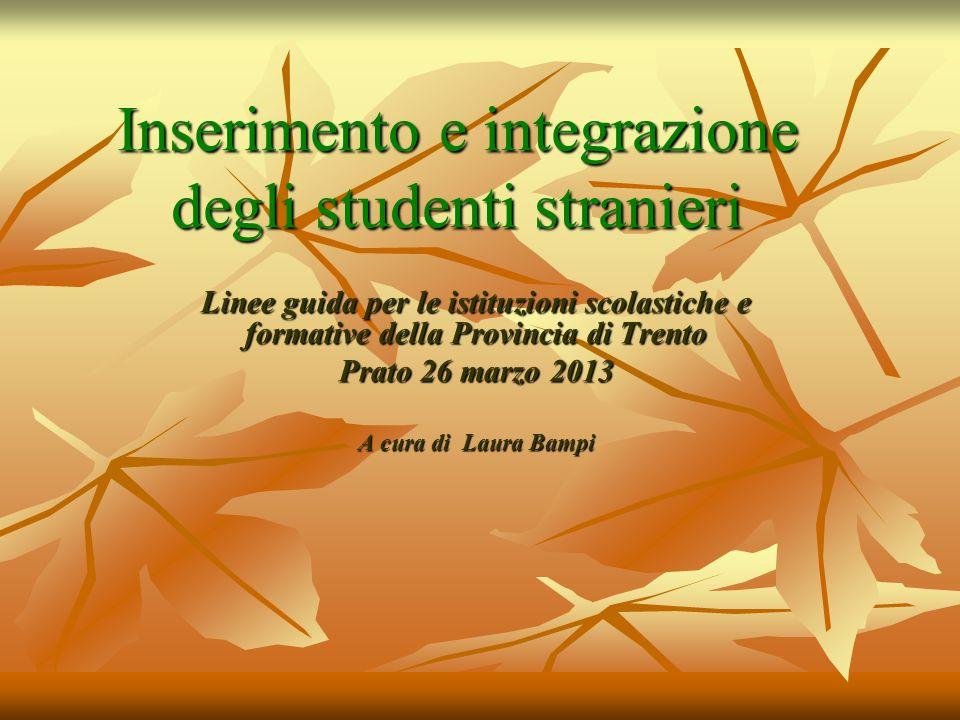 Inserimento e integrazione degli studenti stranieri