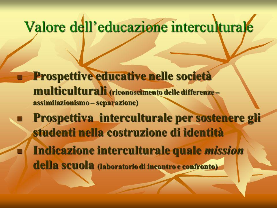 Valore dell'educazione interculturale