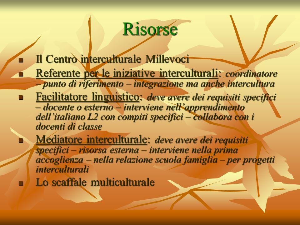 Risorse Il Centro interculturale Millevoci