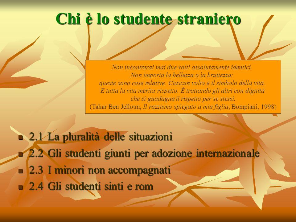 Chi è lo studente straniero