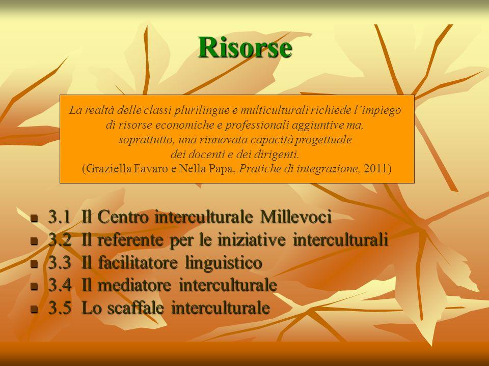 Risorse 3.1 Il Centro interculturale Millevoci