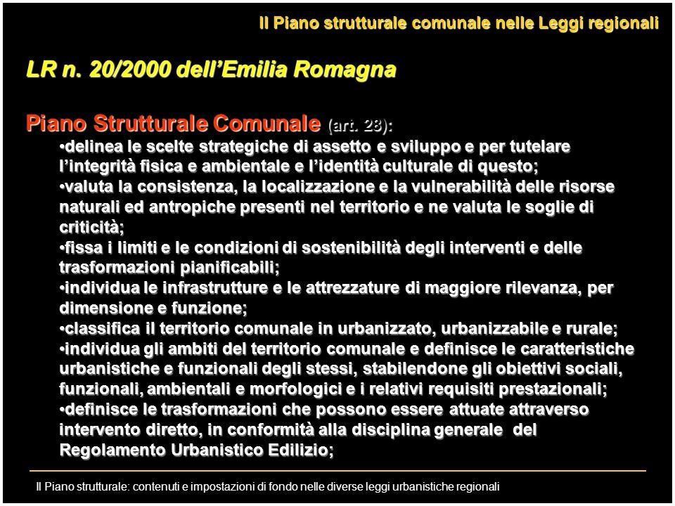 LR n. 20/2000 dell'Emilia Romagna