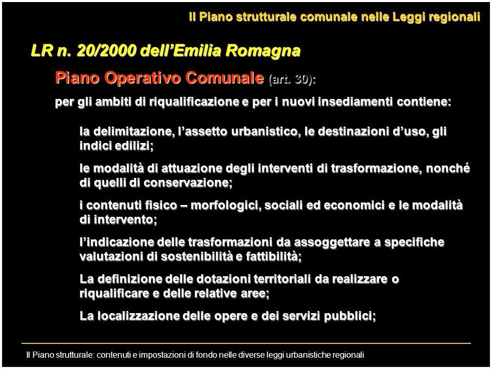 LR n. 20/2000 dell'Emilia Romagna Piano Operativo Comunale (art. 30):