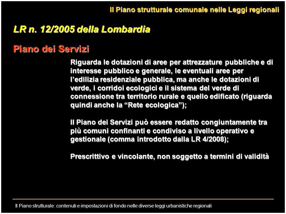 LR n. 12/2005 della Lombardia Piano dei Servizi