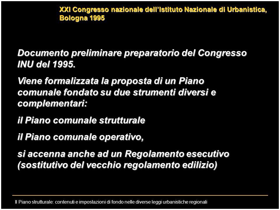 Documento preliminare preparatorio del Congresso INU del 1995.