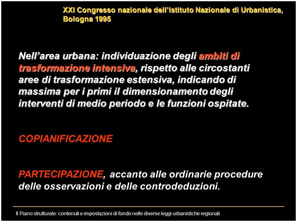 XXI Congresso nazionale dell'Istituto Nazionale di Urbanistica, Bologna 1995