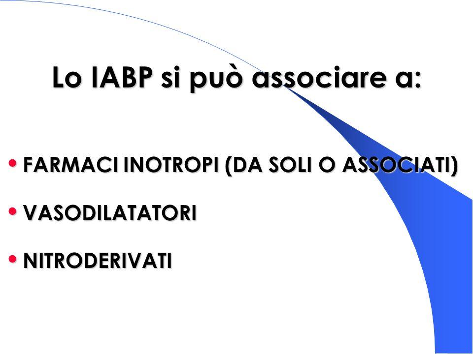 Lo IABP si può associare a: