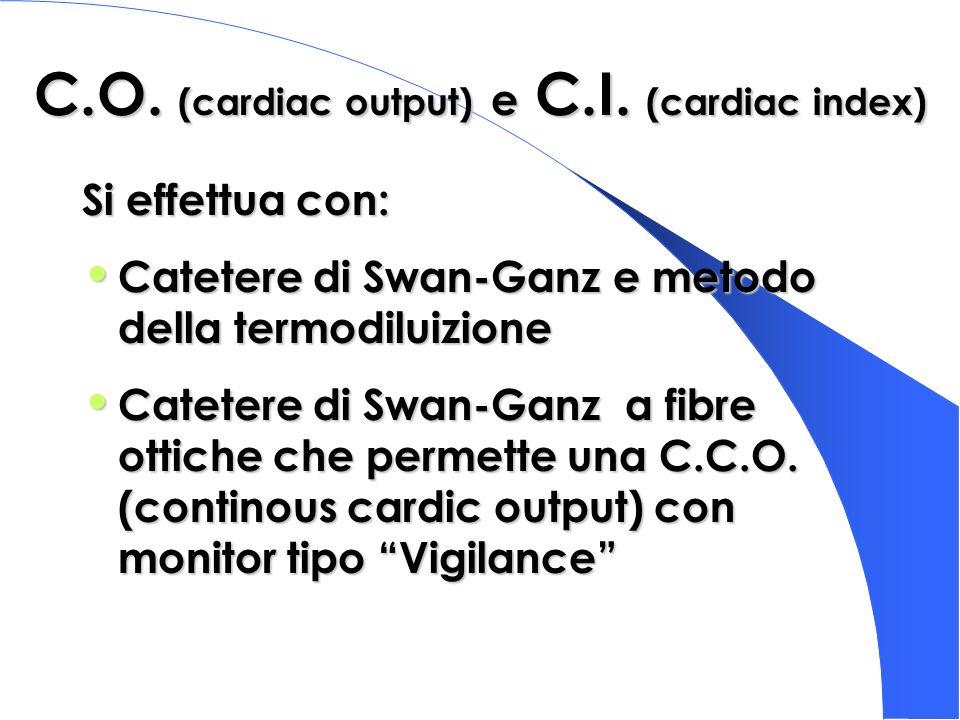 C.O. (cardiac output) e C.I. (cardiac index)
