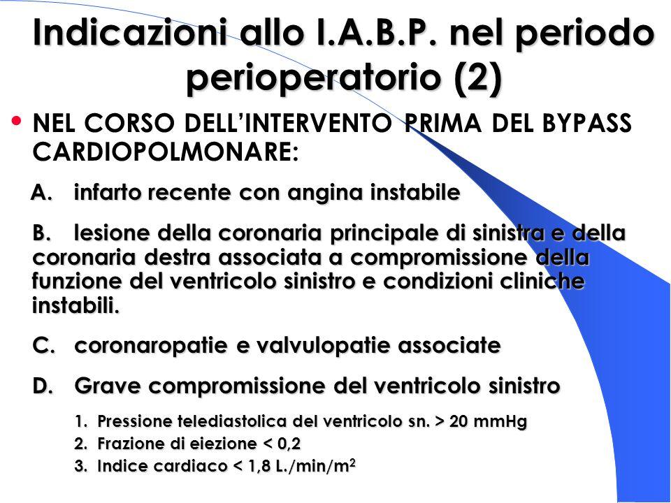 Indicazioni allo I.A.B.P. nel periodo perioperatorio (2)