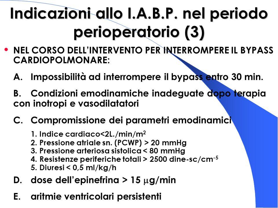 Indicazioni allo I.A.B.P. nel periodo perioperatorio (3)