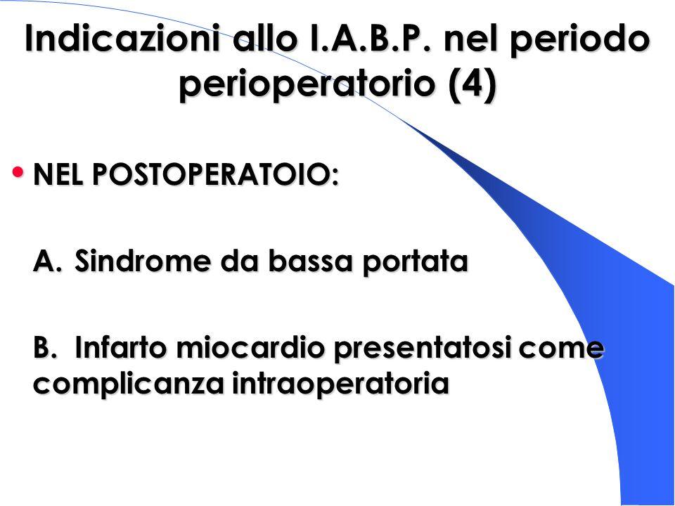 Indicazioni allo I.A.B.P. nel periodo perioperatorio (4)